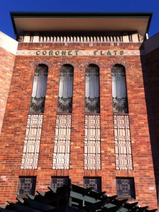 Coronet Flats facade close-up