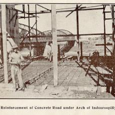 Construction work, Walter Taylor Bridge