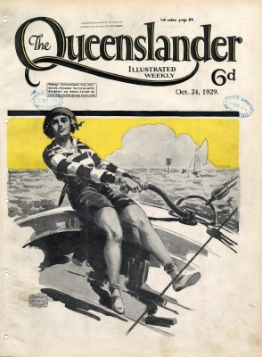 Illustrated front cover from The Queenslander 24 October 1929