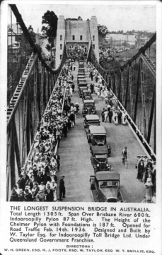 Indooroopilly Road Bridge Brisbane 1936