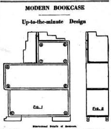 Modern bookcase - design details