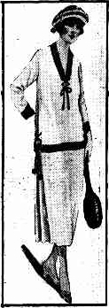 Tennis dress, The Queenslander, 1921