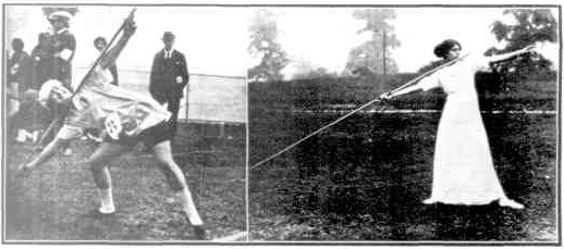 Women javelin 1912 and 1928