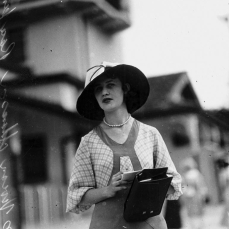 Vivienne Adams at Ascot Racetrack Brisbane December 1933