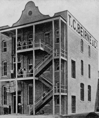 Rear of T.C. Beirne and Cos store in Fortitude Valley Brisbane 1902