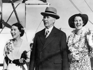 Thomas Charles T.C. Beirne with his nieces Doreen and Gwenneth Hooper 1936