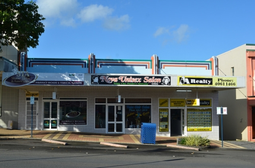 Art Deco shopfronts, Innisfail, 2014