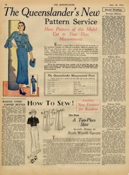 Illustrated advertisement from The Queenslander June 18 1936 p. 16