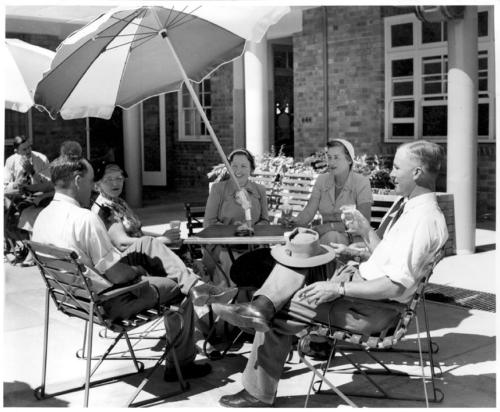 Beer Garden, North Gregory Hotel, Winton, c.1960, Queensland State Archives