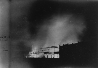 North Gregory Hotel Winton burning down in 1946