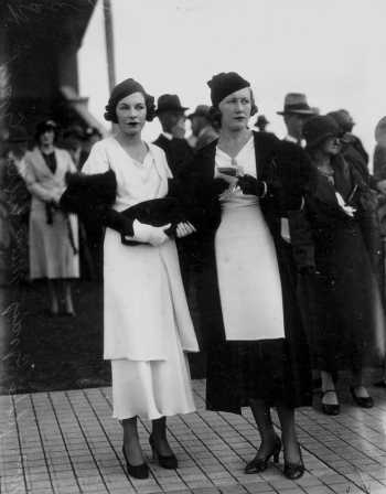 Colleen and Goldie Gray at the Ascot races, Brisbane August 1933