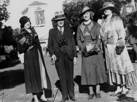Group of racegoers at Ascot Brisbane August 1932-3