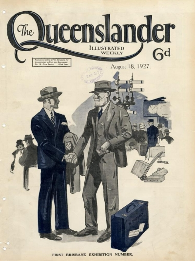 Illustrated front cover from The Queenslander August 18 1927