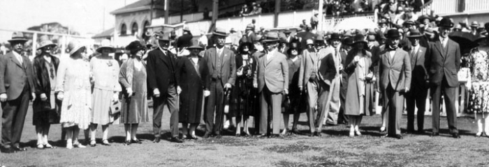 Vice Regal group and prominent visitors at RNA Show, August 1929, Qld State Archives