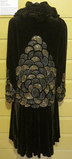 Black silk theatre coat