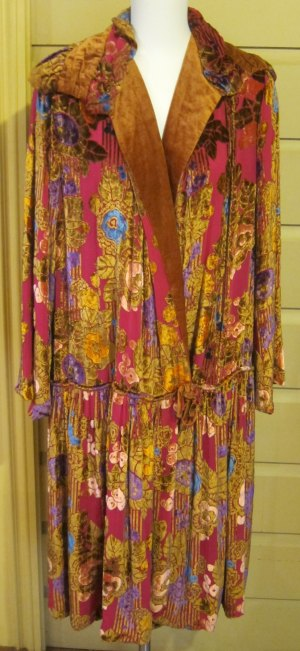 Colourful theatre coat