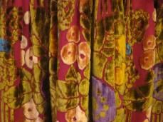 Fabric detail colourful theatre coat