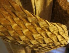 Fabric detail peach theatre coat
