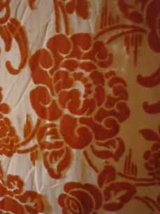 Fabric detail red floral dress