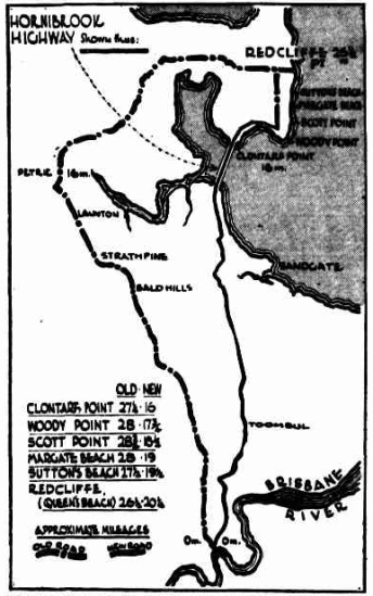 Map from The Brisbane Courier, 31 March 1932