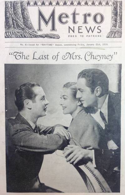 Metro News Last of Mrs Cheyney