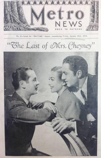 Metro News Last of Mrs Cheyney
