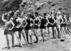 Women in their swimming costumes on the beach at Lindeman Island Queensland Christmas 1928
