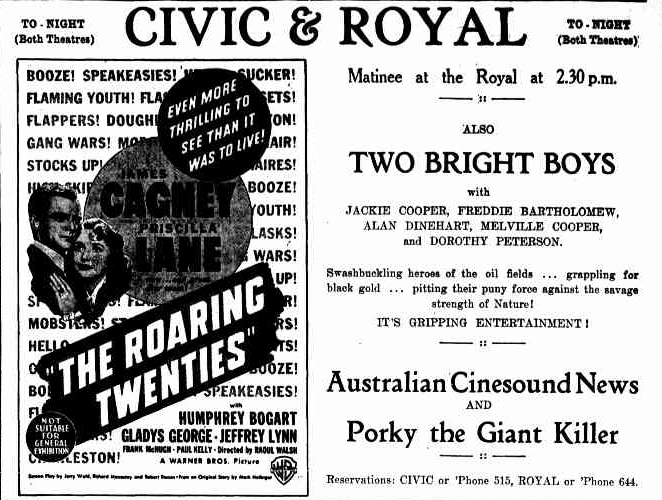 Civic Theatre, Daily Mercury, 5 October 1940, p9